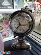 """Годинник-будильник метал. """"Глобус"""" 17*11см"""
