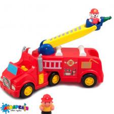 KIDDIELAND 043265 Розвиваюча іграшка - ПОЖЕЖНА МАШИНА (механiчна, світло, звук)