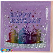 Листівка  ручна робота  ABF-19-1224PINK с днем рождения