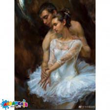 """Діамантова мозаїка """"Артисти балету"""" 30 * 40см, з рамкою, в кор. 41 * 31 * 2,5 см"""