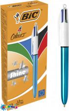 Ручка 4 Колорс Шайн Блак BIC