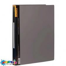 Папка з кільцями А4 2,5 см 2НК PP 700 мкн з кишенею чорна 5218 SOZ