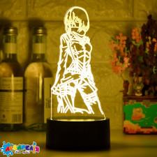 3d лампа Аніме Атака Титанів Mikasa Ackerman №DM970
