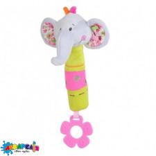 """Іграшка з пищалкою """"Винахідливий слоник""""(Висота 27см) """"BabyOno"""""""