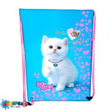 "Сумка для взуття ""Cute kitten"", 46*33см, 210D PL, арт. 2126C, CLASS"