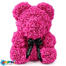 Ведмідь із троянд (40 см) (ассортимент кольорів)