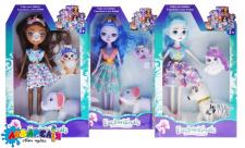 """Лялька """"Enchantimals"""" з домашнім улюбленцем в коробці, 3 види XM1090 р.26*20*5см."""