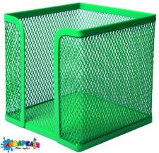 Бокс для паперу 100х100x100 мм металевий зелений