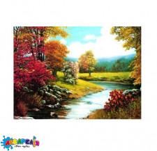 """Алмазна мозаїка """"Вигин безіменній річки"""", 30 * 40 см, з рамкою, в кор. 41 * 31 * 2,5 см"""