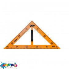 Косинець TEACHER 90°/45° для шкільної дошки 50 см, жовтий