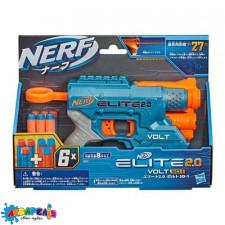 """Бластер """"NERF"""" з поролоновими кулями Еліт 2.0 бластер Вольт"""