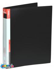 Папка з кільцями А4 2,5 см 2НК PР з кишенею чорна 5038 NORMA
