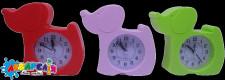 """Годинник -будильник""""Собака""""15*14 см 3 коліра"""