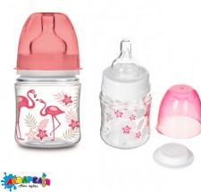 Canpol babies EasyStart пляшка з широким отвором антиколікова PP  - Jungle 120 мл коралова
