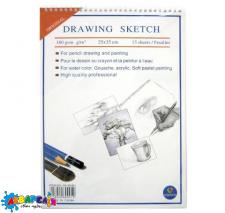 *Альбом для малювання В4 15 арк. на спіралі (для сух.и аквар.рис-ия) 180 г/м кв. 25*35 см