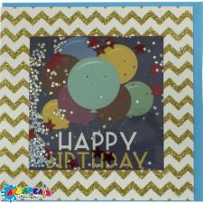 Листівка  ручна робота  FLP-19-1014 с днем рождения