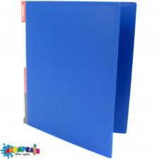 Папка з кільцями А4 2,5 см 2НК PР з кишенею синя 5038 NORMA