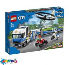LEGO Citty Конструктор Перевезення поліцейського гелікоптера 60244