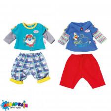 BABY BORN 823927 Набір одягу для ляльки - МАЛЮК НА ПРОГУЛЯНЦІ