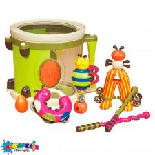 BATTAT BX1007Z Музична іграшка - ПАРАМ-ПАМ-ПАМ (7 інструментів, у барабані)