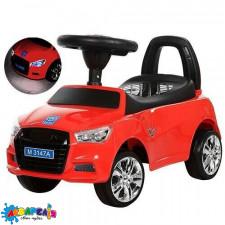 Каталка-толокар M 3147A-3 багажник під сидінням,гум. покр. колеса, світло, муз., бат.,червоний