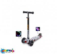 Cамокат Scooter MAXI принт  АЛФАВІТ