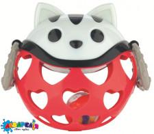 Canpol babies Іграшка з брязкальцем інтерактивна Червоний Котик