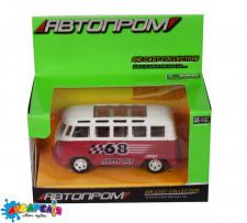 Автобус АВТОПРОМ №7827 металевий, 4 кольори, в коробке 12*7*6см