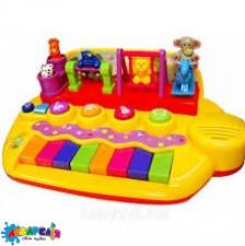 KIDDIELAND 033423 Піаніно - ЗВІРЯТА НА ГОЙДАЛКАХ (звук)