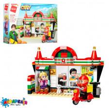 Конструктор Qman 1133 місто, магазин, фігурки, 319 дет., кор., 35,5-25-6,5 см.