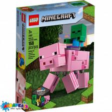 LEGO Minecraft Конструктор Свиня і малюк-зомбі 21157