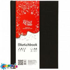 Блокнот A4 96 арк. (21*29,7 см) 100 г/м. чорний ROSA Studio