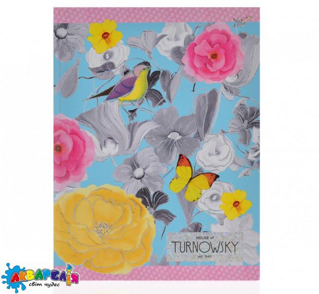 """Блокнот А5/64лін. 7БЦ фольга голограф.серебро+УФ-виб. """"Turnowsky. Art birds"""" YES"""