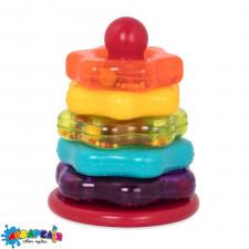 BATTAT BT2579Z Розвиваюча іграшка - КОЛЬОРОВА ПІРАМІДКА (7 предметів)