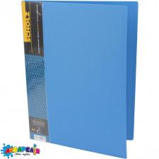 Папка А4 2 см довг. притиск + киш. PP 700 мкн, синій 05502 SOZ