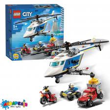 LEGO Citty Конструктор Погоня на поліцейському гелікоптері 60243
