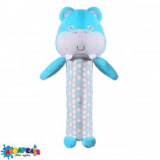 """Іграшка з пищалкою """"Бегемотик Марсель"""" (висота: 18см) НОВИНКА !!! """"BabyOno"""""""