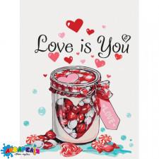 """Картина за номерами """"Love is you"""" 30*40см (КНО5526)"""