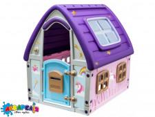 Будиночок 22-561 дитячий, пластиковий, рожево-фіолетовий, кор., 123,5-102,5-121,5 см.
