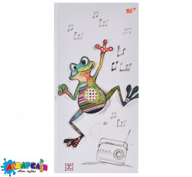 "Блокнот 100*200/64лін. 7БЦ фольга золото + Уф вибірка ""BugArt. White frog"" YES"