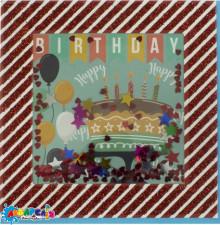 Листівка  ручна робота  FLP-19-1023 с днем рождения