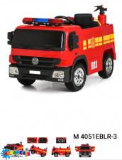 Машина M 4051EBLR-3 пожеж.,радіок.2,4G,2мот.35W,акум.12V10AH,EVA,шкіра,шолом,вогнегас.,світло,червон