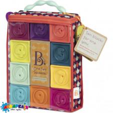 BATTAT BX1002Z Розвиваючі силіконові кубики - ПОРАХУЙМО (10 кубиків, у сумочці)