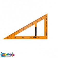 Косинець TEACHER 90°/60° для шкільної дошки 50 см, жовтий