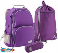 Набір рюкзак + пенал + сумка для взуття Kite 702-2 Smart фіо