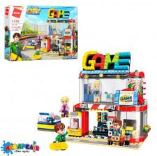 Конструктор Qman 1135 місто, розважальний центр, фігурки, 461 дет., кор., 41-29,5-6,5 см.