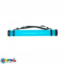 Тубус для паперу пластик прозорий (довж. 65 см d:8.3 см) синій (11319) D.K.ART & СRAFT