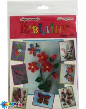 Квілінг набір № 7 квітка з метеликом,120 полосок, 5мм, довж. 30 см