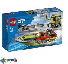 LEGO Citty Конструктор Перевізник гоночного катера 60254