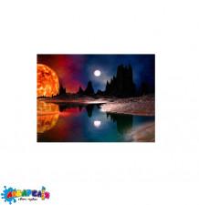 """Алмазна мозаїка """"Багряний місяць"""", 30 * 40 см, з рамкою, в кор. 41 * 31 * 2,5 см"""